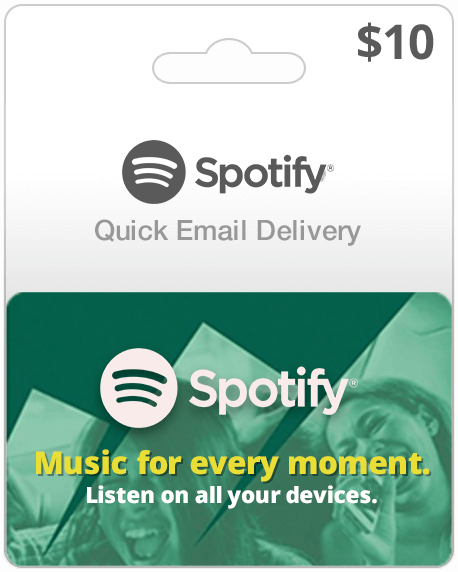 Spotify Music Gift Card $10